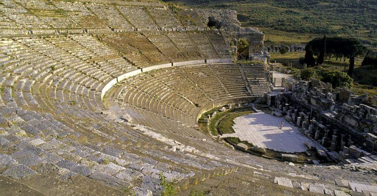 ancient greek empire, ephesus, turkey, ancient greece, greek architecture, amphitheater, amphitheater in ephesus