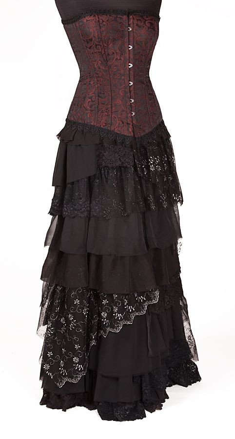 Ragamuffin Skirt Gothic Romantic Steampunk Clothing From The Dark Angel Style Me