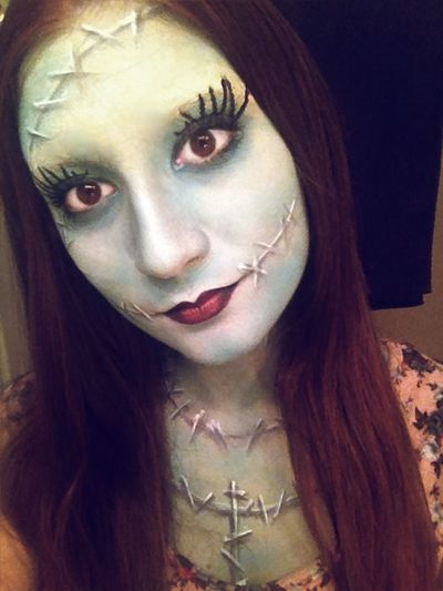 Great Sally Stitches | Halloween Hair & Make-Up ...  The Nightmare Before Christmas Jack Makeup