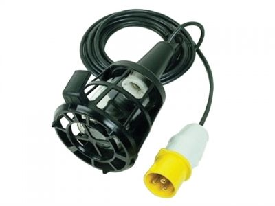 Faithfull Power Plus Plastic Inspection Lamp (Bulb Not Included) & 3m Cable 240 Volt