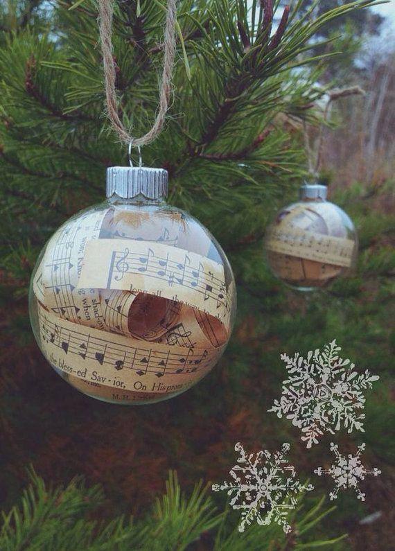 Vintage Hymnal Glass Ball Ornament by KevinStinehart on Etsy, $11.00