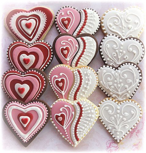 Valentine Cookies Decorating Ideas   Pic Only