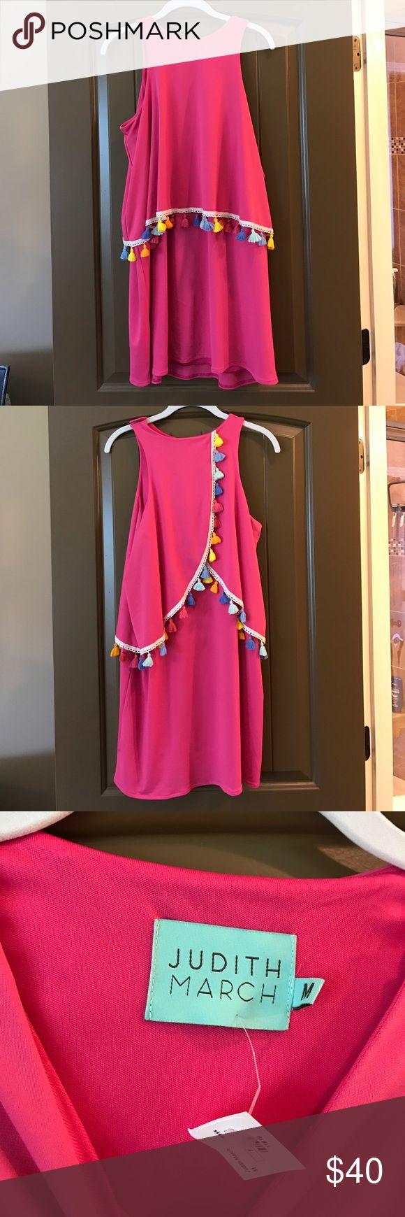 NWT Judith March pink Pom Pom dress size Medium NWT Judith March pink Pom Pom dress. Size Medium. SO CUTE!!! Judith March Dresses
