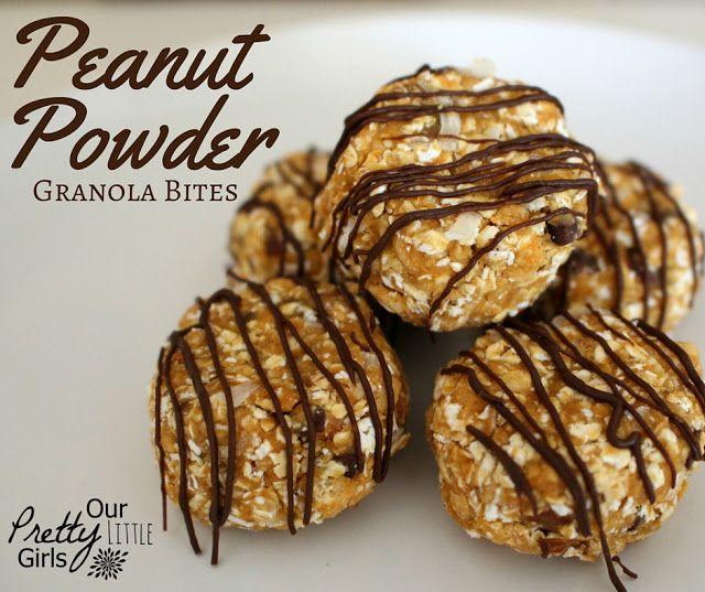 Peanut Powder Granola Bites. A simple no bake granola bite recipe featuring Jif Peanut Powder #Ad #StartWithJifPowder