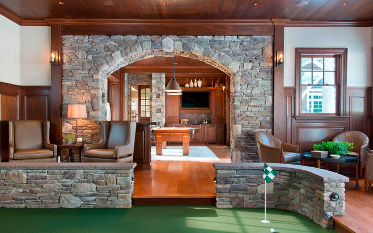 with pool room and indoor walled putting green via Hadley Court