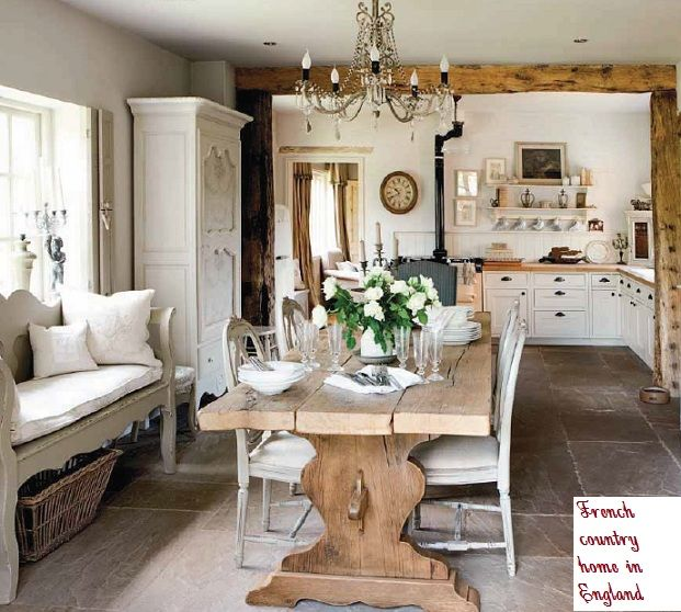 French country style cottage the english home home for Cottage home decorations