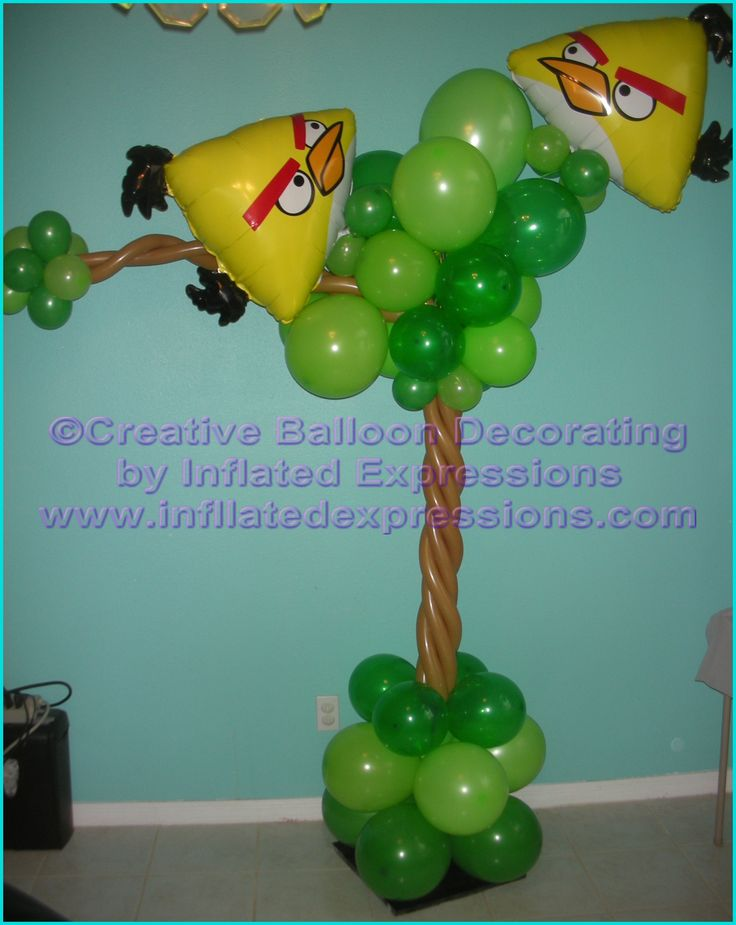 Balloon columns Angry Birds inspired