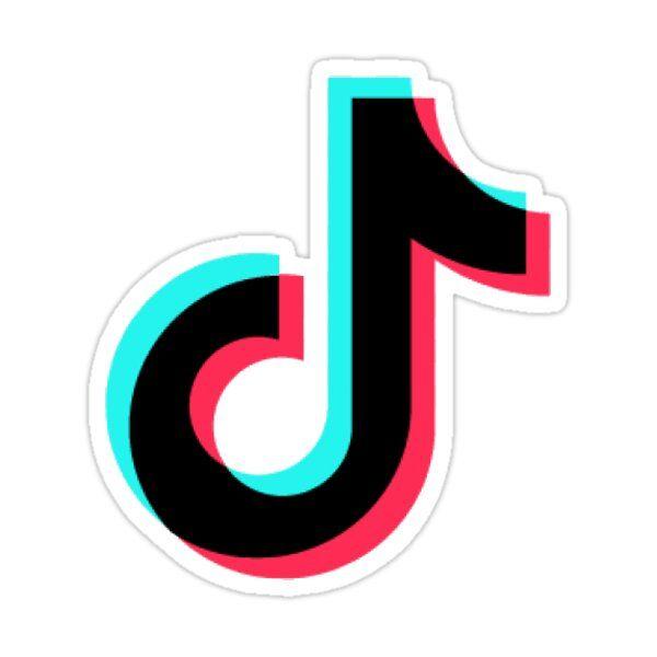 Tiktok Logo Sticker By Rubenyves In 2021 Logo Sticker Meme Stickers Cool Stickers