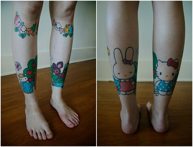 .Love Tattoo, Awesome Tattoo, Cartoons Tattoo, Tattoo Inspiration, Body Art, Tattoo Design, Hello Kitty Tattoos, Beautiful Tattoo, Sanrio Tattoo