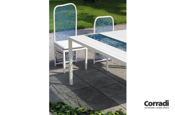 Linea Foglia Corradi - tavolo e sedie #arredo #giardino