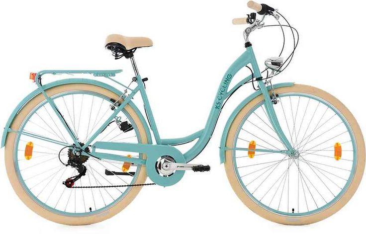 KS Cycling Damen-Cityrad, 28 Zoll, Shimano Tourney 6 Gang-Kettenschaltung, türkis, »Balloon«