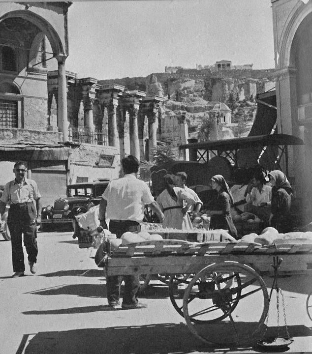 Under the Acropolis (Monastiraki) in the 50's, #solebike, #Athens, #e-bike tours