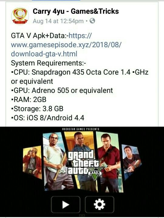 Download GTA V Apk Data For Android  | GamesEpisode in 2019