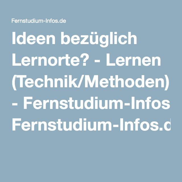 Ideen bezüglich Lernorte? - Lernen (Technik/Methoden) - Fernstudium-Infos.de