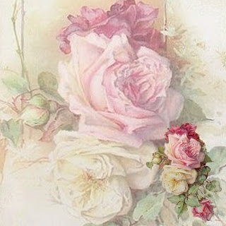 12 x 12 inch vintage pink roses printable for scrapbooking and paper crafting