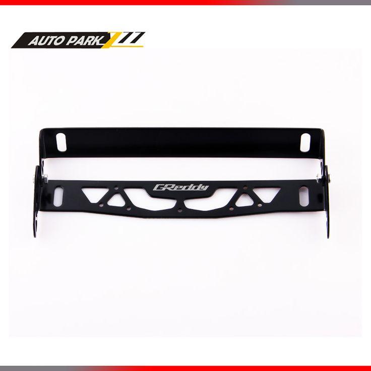 Wholesales Rotation of registration plate gredy logo adjustable aluminum auto frame license plate frame holder