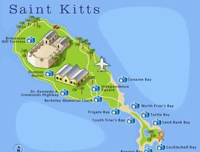 St. Kitts Map