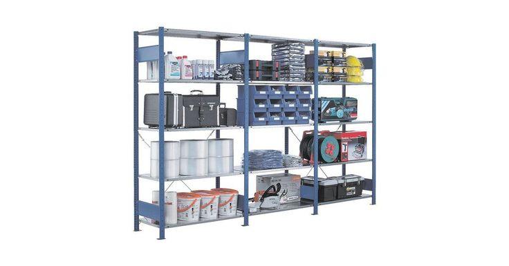 Steckregal Anbauregal 100 X 30 X 200 Cm Verzinkt Blau Steckregal Regal Wolle Kaufen