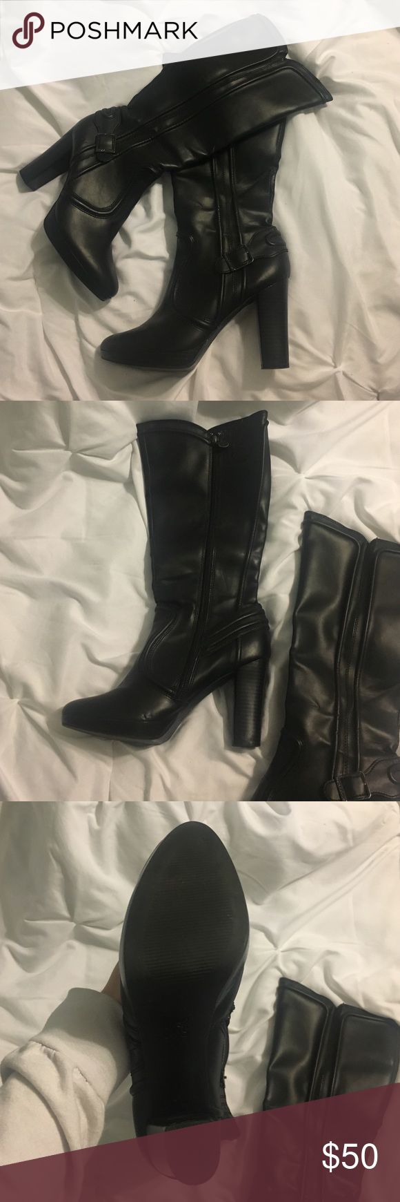 Simply Vera heeled boots Simply Vera Wang tall boots with heel. Very comfortable and in amazing condition. Simply Vera Vera Wang Shoes Heeled Boots