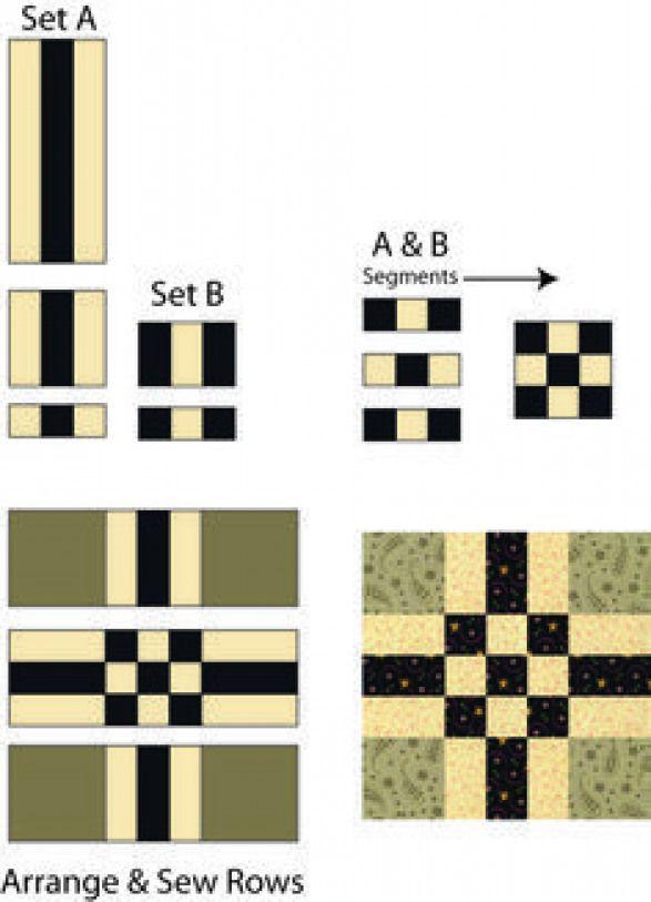 Es muy fácil coser un lote de bloques de edredón de nueve parches Easy Center: coser su cen …