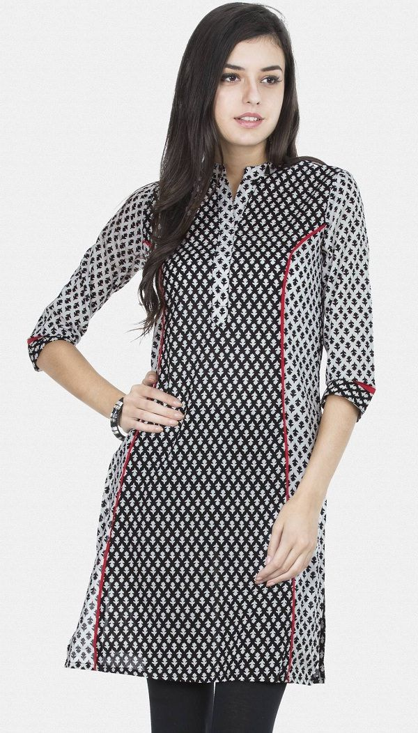 princess cut long sleeve casual kurti for stylish women