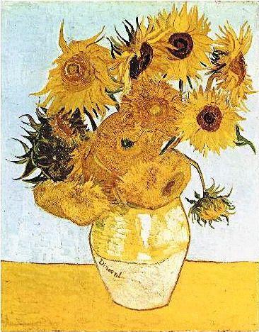Van_Gogh__The_Vase_with_12_Sunflowers Clipart gratis di quadri_famosi
