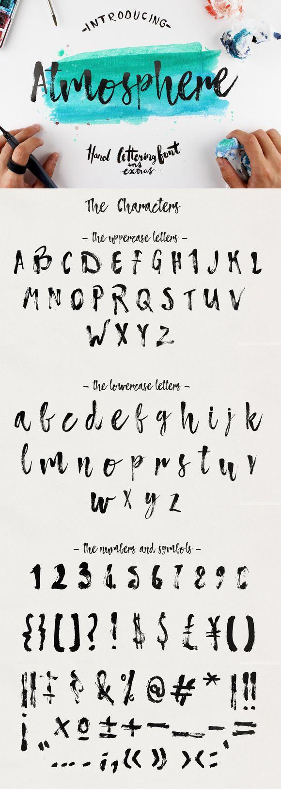 Atmosphere Script Typeface by Yasir Ekinci on Creative Market