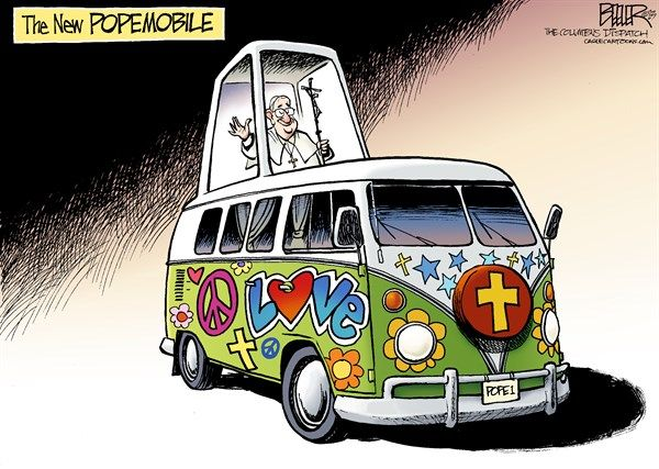 Christian Religion Vw Bus Hippie Vatican