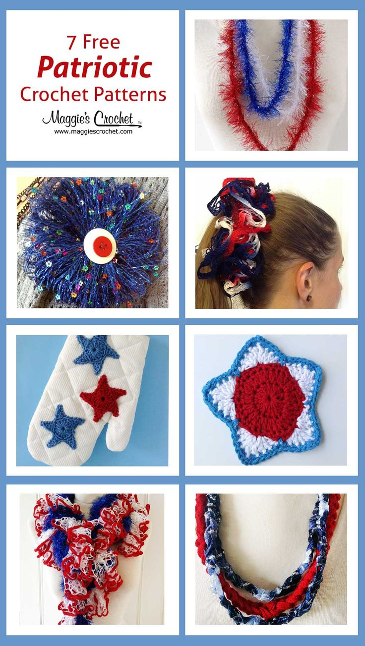 82 besten Independence Day, 4th of July Holiday Crochet Patterns ...