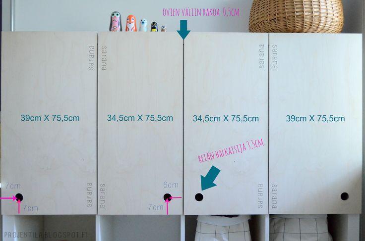 Diy doors for Expedit shelf