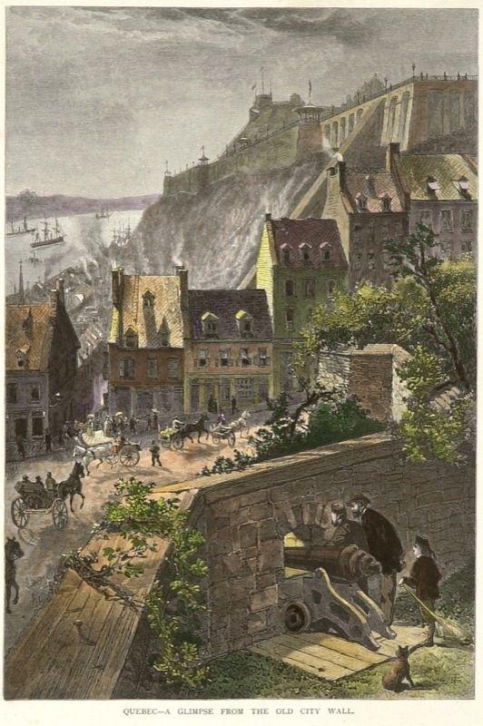 Coup d'oeil sur Québec, à partir des murs de la vieille ville de Québec vers 1882-1884