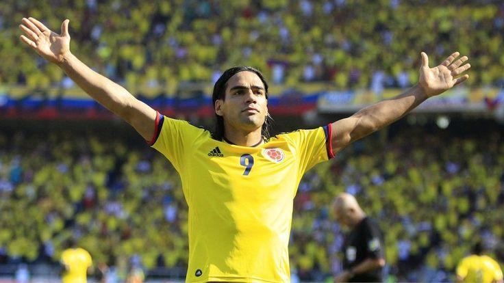 Eliminatorias Copa Mundial de la FIFA Brasil 2014 | Colombia 4 vs Uruguay 0 | 7-09-2012 | Falcao García celebra el primer gol de Colombia.