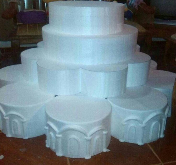 Maqueta o estructura para torta