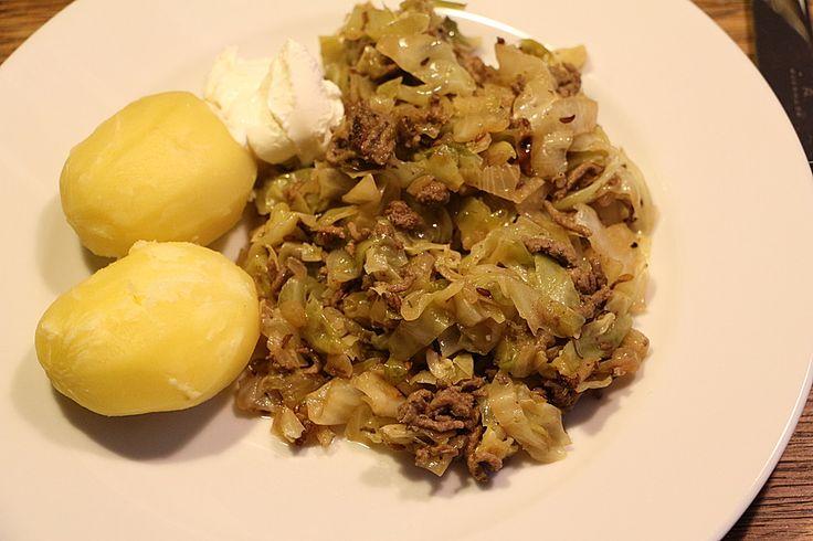 Spitzkohl - Hackfleisch - Pfanne 1
