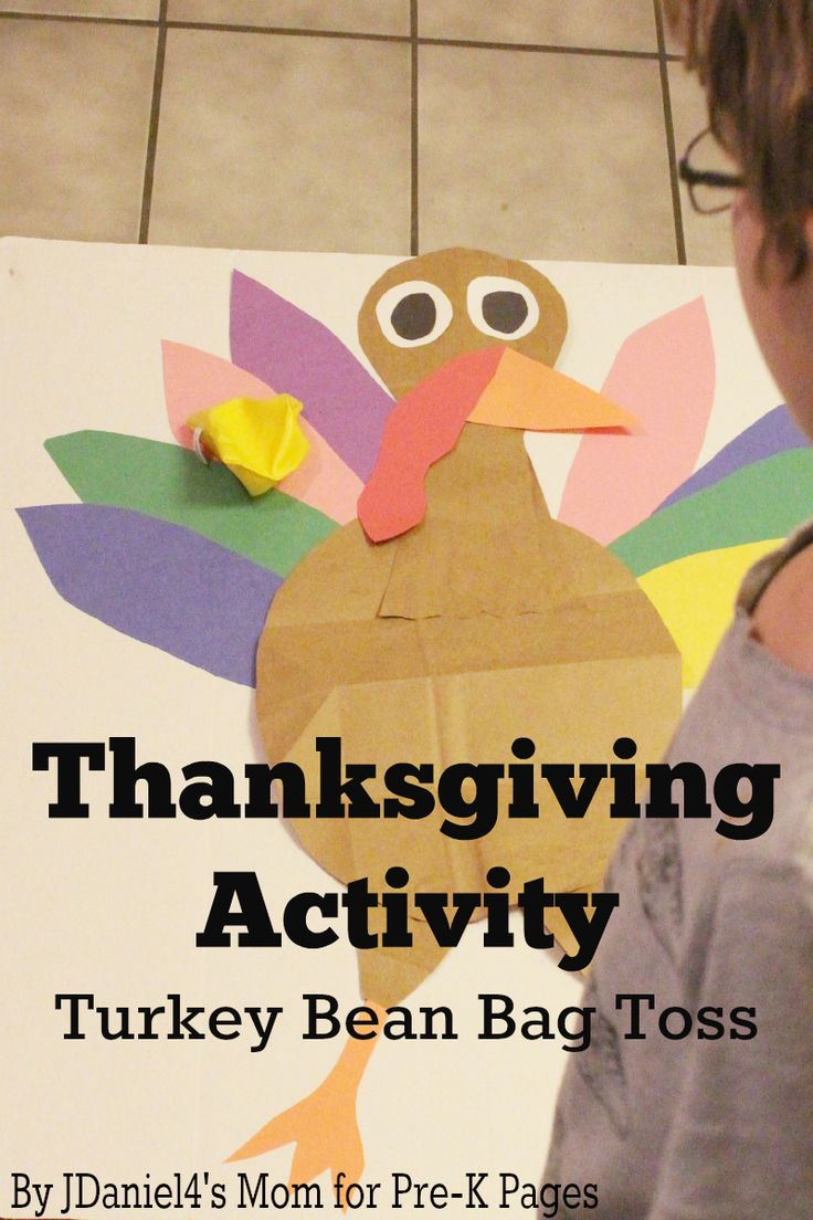 Turkey Beanbag Toss Thanksgiving Games For KidsThanksgiving