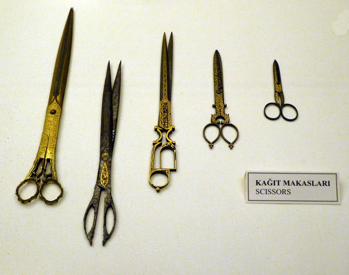 Ottoman era scissors at the Sadberk Hanim Museum, Istanbul
