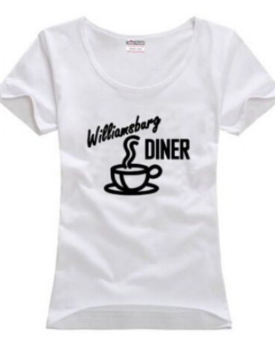 2 Broke Girls williamsburg diner t shirt for girls -