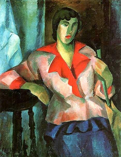 Роберт Фальк «Портрет женщины в розовом» 1914 г.