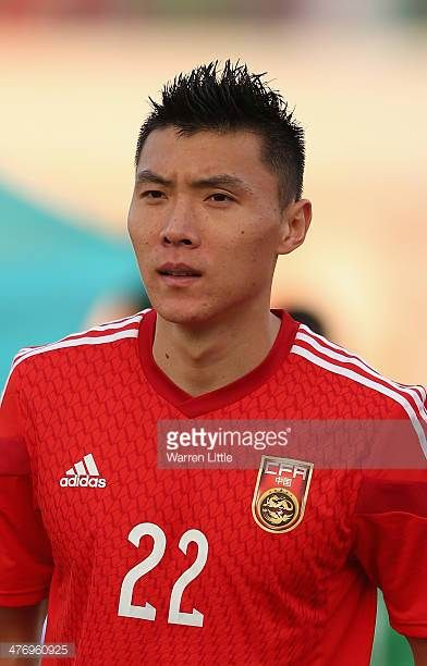 A portrait of Yu Dabao of China during the Asian Cup Qualification match between China and Iraq at the AlSharjah Stadium on March 5 2014 in Sharjah...
