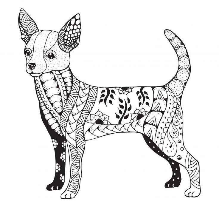 Mandalas De Perros Dificiles Mandalas Animales Mandalas Para Colorear Animales Perros Dibujos A Lapiz