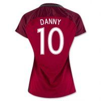 Portugal National Team Jersey 2016/17 Home Women's Soccer Shirt #10 Danny