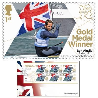 Large image of the Team GB Gold Medal Winner First Day Cover Overseas - Ben Ainslie