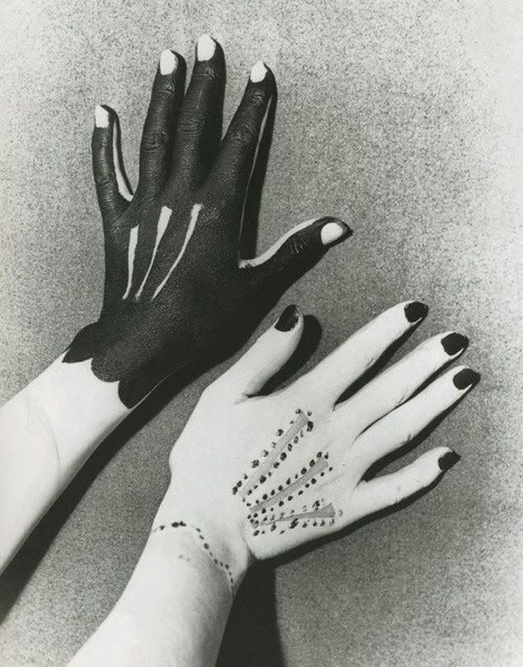 """criticalmera: """" Man Ray - Hands painted by Picasso, 1935 """""""