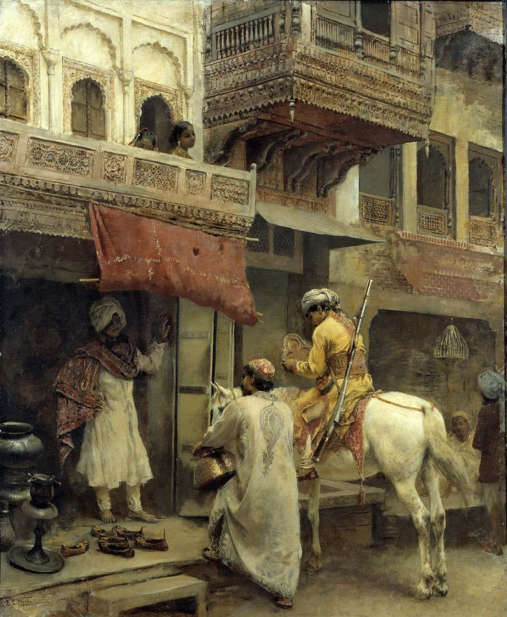 Edwin Lord Weeks, Street scene in India, C. 1884-88.