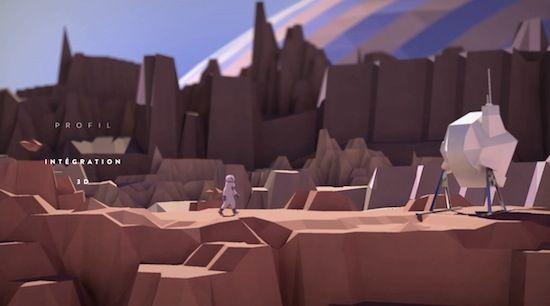 2Dと3Dで描く未知の惑星。 ローポリ仕立ての背景がレトロな雰囲気のアニメーション!『Marche neutre et intégration 3D』…