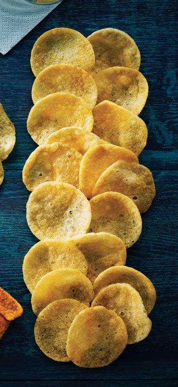 """""""Pop"""" chips (heat- and pressure-cooked potato chips):  100 calories = 19 chips.  This has 3.5 g fat and 160 mg sodium."""