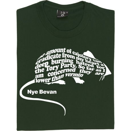 Nye Bevan Vermin Quote T-Shirt. An abridged quote of Aneurin Nye Bevan, given during a speech at the Bellvue Hotel on...