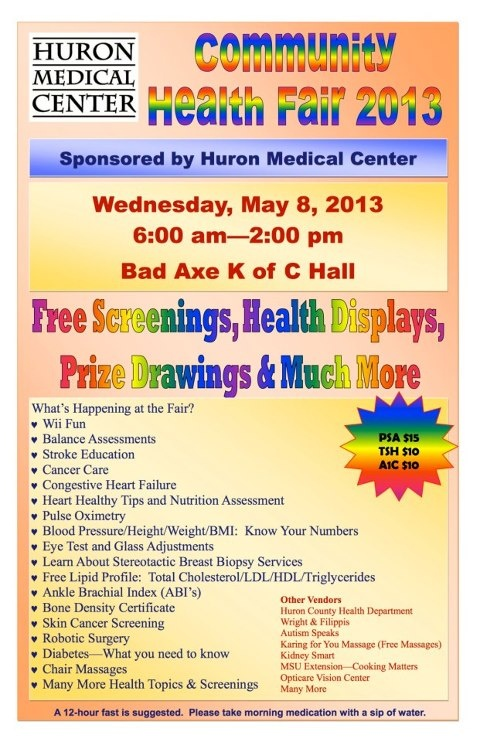 health fair                                                                                                                                                     More