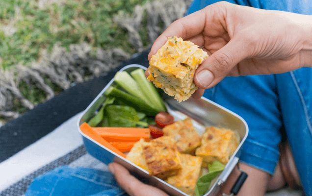 Weet-Bix recipe: Zucchini and corn slice