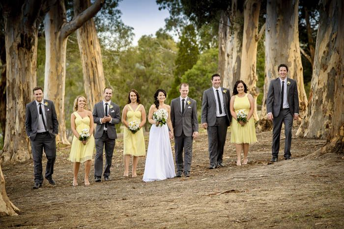 Emily, Heath and their wedding party at Growling Frog Golf Course. Photographed by Marc Grist Photography #wedding #weddingphotography #weddingparty #groupshot #marcgristphotography.